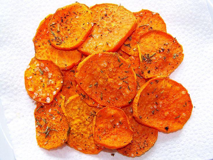 Black Pepper and Rosemary Sweet Potato Crisps