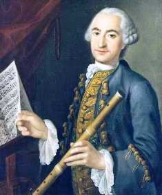 Frederick the Great's flute teacher - Johann Joachim Quantz. The only person permitted to comment on His Highness's flute performance.