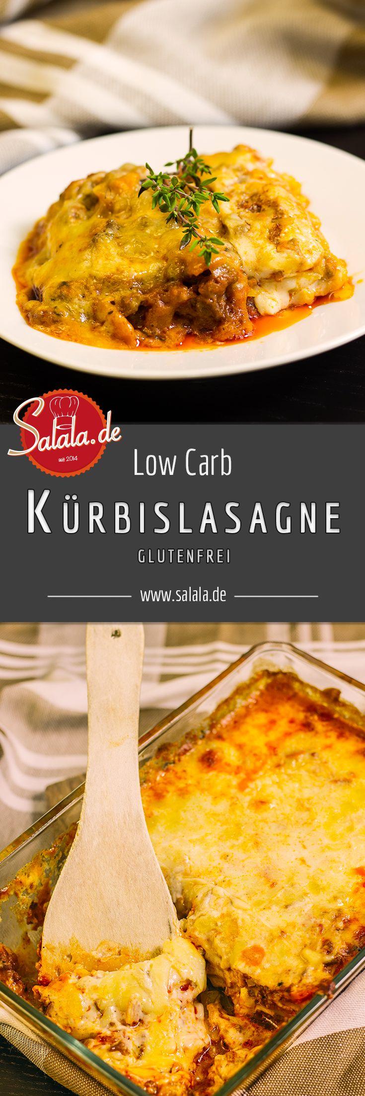 Einfache Kürbislasagne mit Low Carb Bechamelsauce und Kürbisplatten statt Nudeln. Lasagne mit sehr wenigen Kalorien und extrem befriedigend!