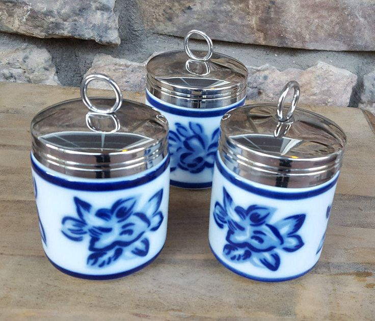 Blue & White China Egg Coddlers~Porcelain China Egg Coddlers by Williams Sonoma~Egg Cookers~Lovely Cookware~Serving dish~by JewelsandMetals by JewelsandMetals on Etsy