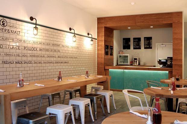 Kerbisher & Malt fish and chip shop, Brook Green, London W6