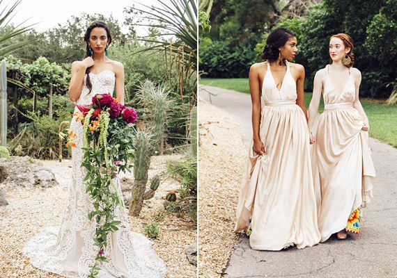 Non Traditional Red Wedding Dresses: Peruvian Inspired Wedding Ideas