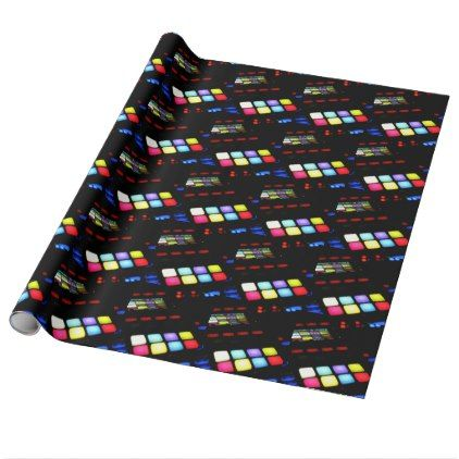 Digital Music Dj Technology Sequencer Samples Wrapping Paper - sample design diy personalize idea