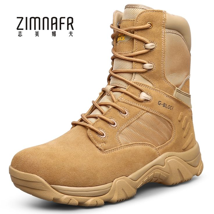 52.80$  Buy here - http://alistr.shopchina.info/1/go.php?t=32811352084 - 2017 Men's Winter Work Wear Black Leather Tactical Boots Male Ankle Desert Military Boots SWAT Bota Masculino Leather Army Shoes  #buyonlinewebsite
