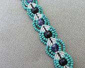 Macrame braccialetto con ametista legno e vetro - canapa Macramé gioielli