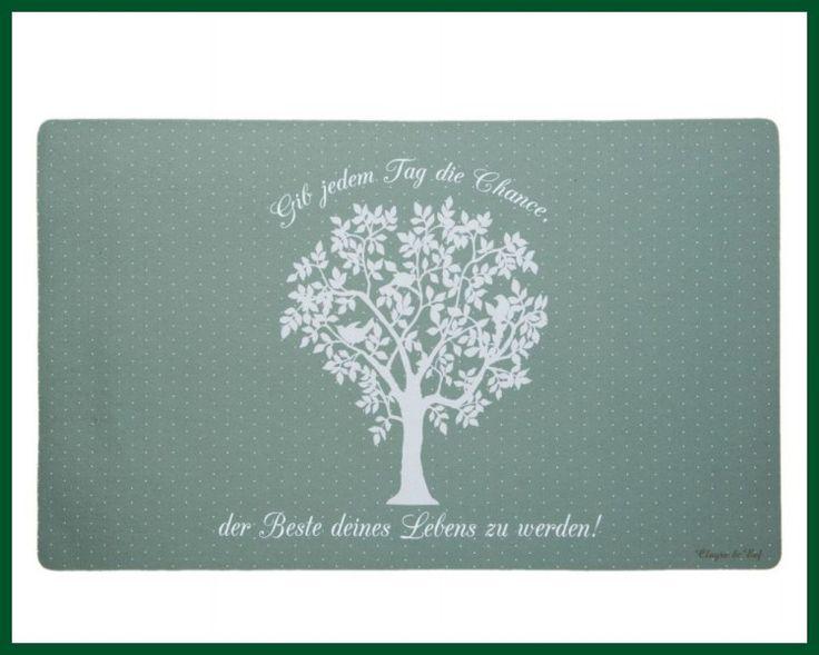 Fußmatte BAUM Türvorleger Gummimatte Spruch grün