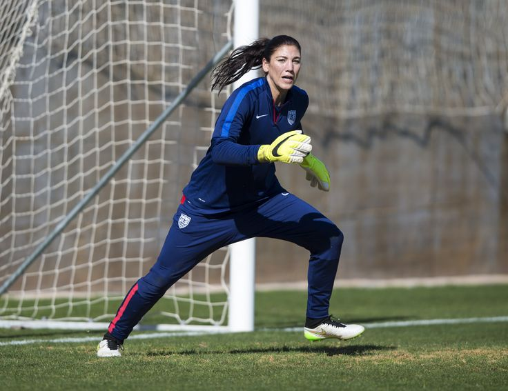 Hope Solo, training, Algarve Cup. (U.S. Soccer)