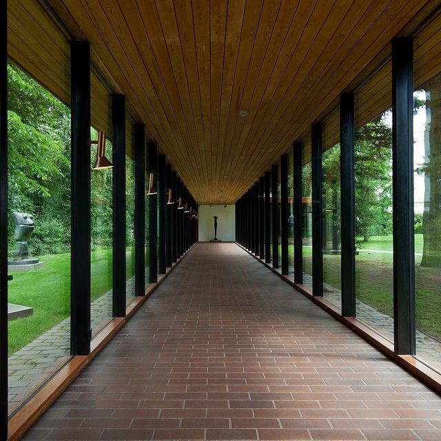 Louisiana Museum of Modern Art, Humlebæk, Denmark by Danish Architects Vilhelm Wohlert and Jørgen Bo, 1958