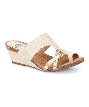 Love this Beige & Gold Rush Vivi Leather Sandal on #zulily! #zulilyfinds