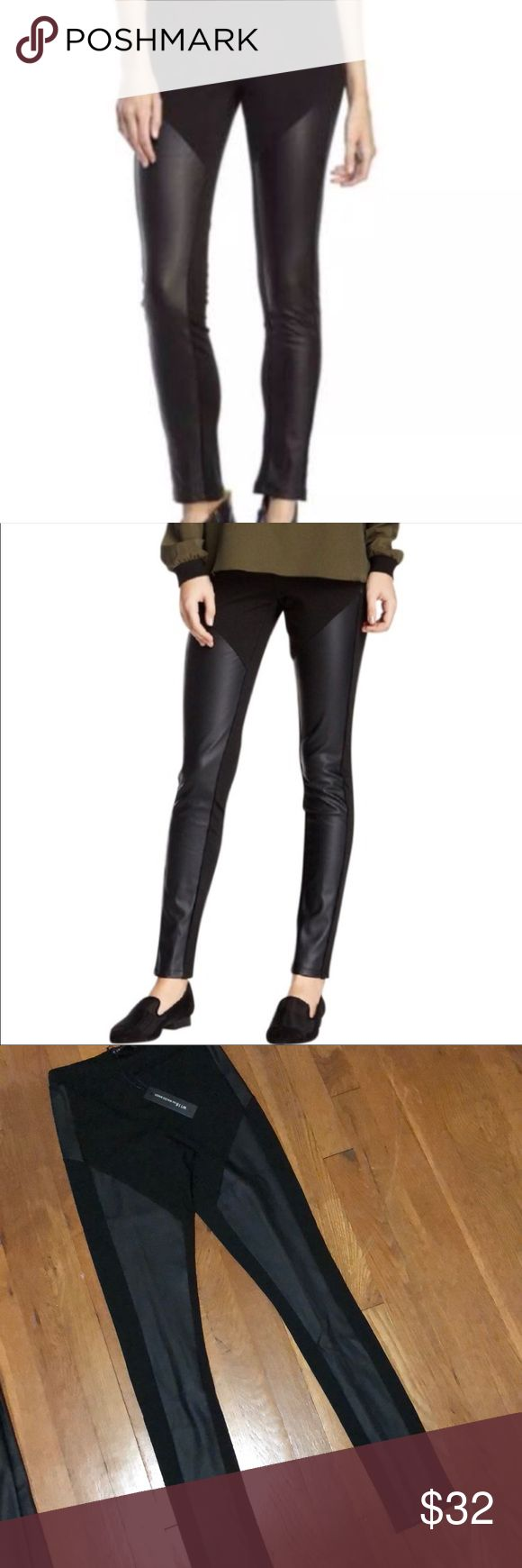 W118 Walter Baker Sylvia Skinny Pants Leggings W118 Walter Baker Sylvia Pant, fitted skinny leggings, black knit, faux leather panes,  elasticized waist, stunning fit. W118 by Walter Baker Pants Skinny