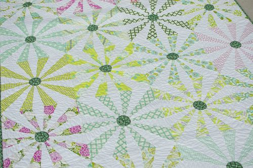 Vintage Spin from Adding Layers with Kathy Doughty with Heather Bailey fabric - Hyacinth Quilt Designs