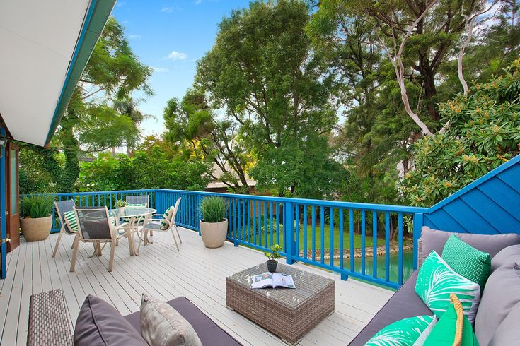 Private, large balcony, access from main bedroom, outdoor setting, coffee table, throw cushions, Pilcher Residential