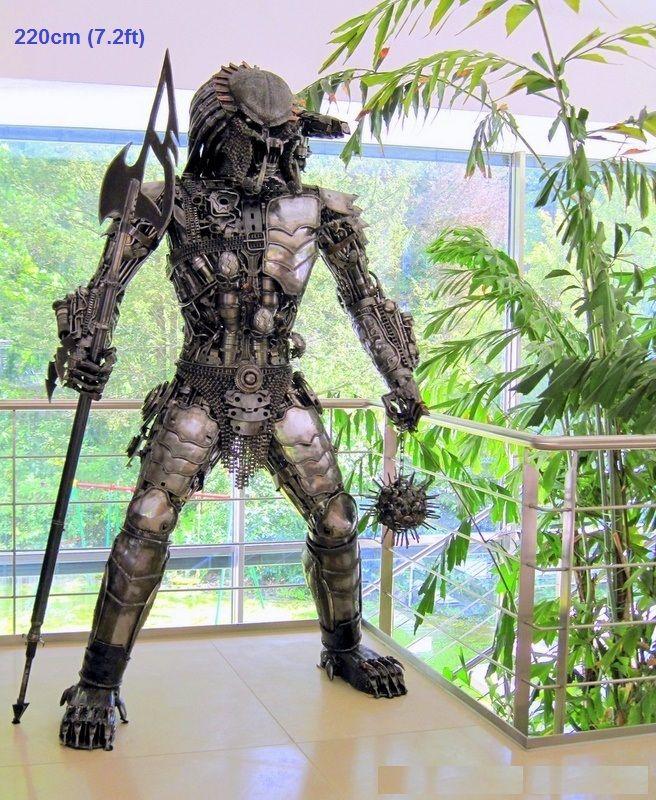 Predator Figure Statue Full Large Life Size Scrap Metal