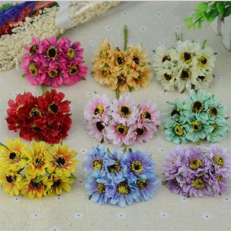 6 pz/lotto mini crisantemo di seta artificiale fiori di seta bouquet decorazione di cerimonia nuziale per scrapbooking fai da te rosa palla fiore floreale(China (Mainland))