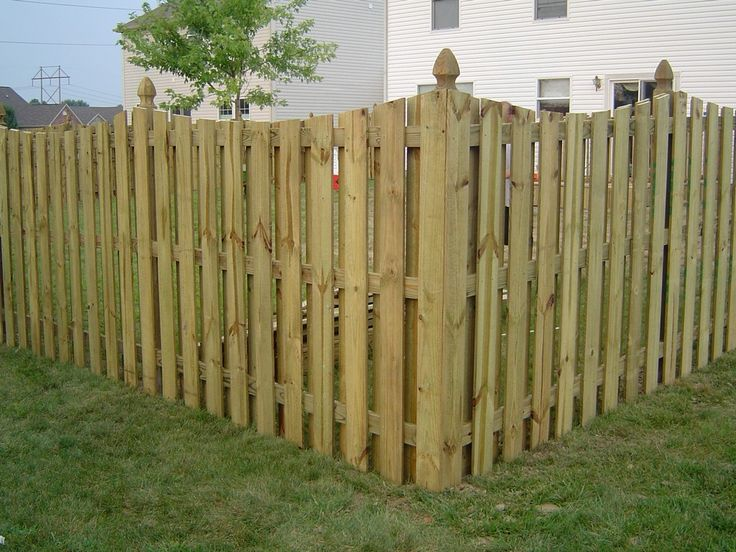 Treated Shadowbox Privacy Fence With Cape Cod Style Top