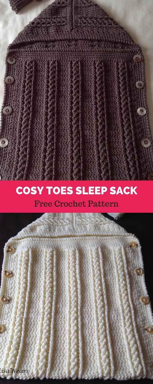 Cosy Toes Sleep Sack Free Crochet Pattern Crocheting Pinterest