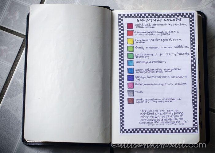 Color code template for Bible Study