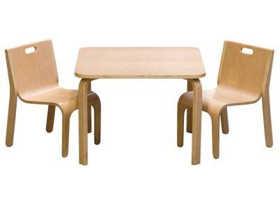 Tafelset 'Wave' naturel voor kinderen   Set York Natural   Tafeltjes en stoelen