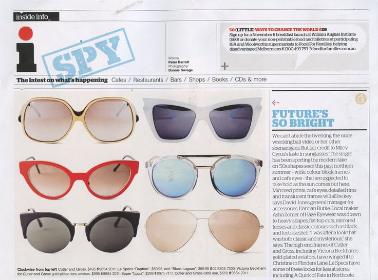 The Melbourne Magazine - A Quirk Of Fate is the place to get your Le Specs.