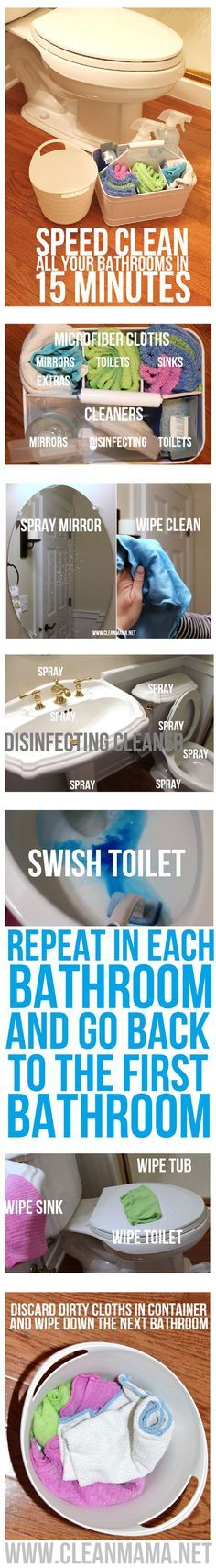 Looking for a better way to clean your bathrooms?  Try this method via Clean Mama
