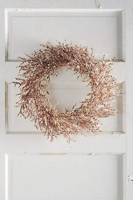 Rosy Wreath - anthropologie.com