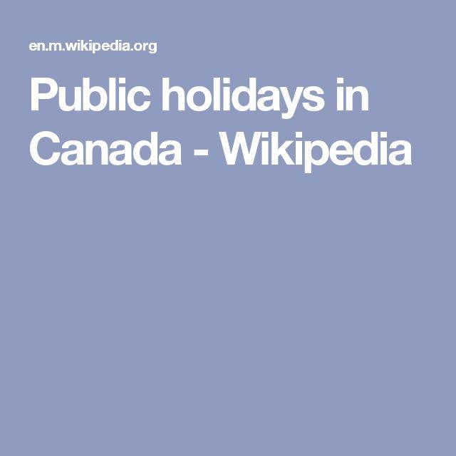 Public holidays in Canada - Wikipedia