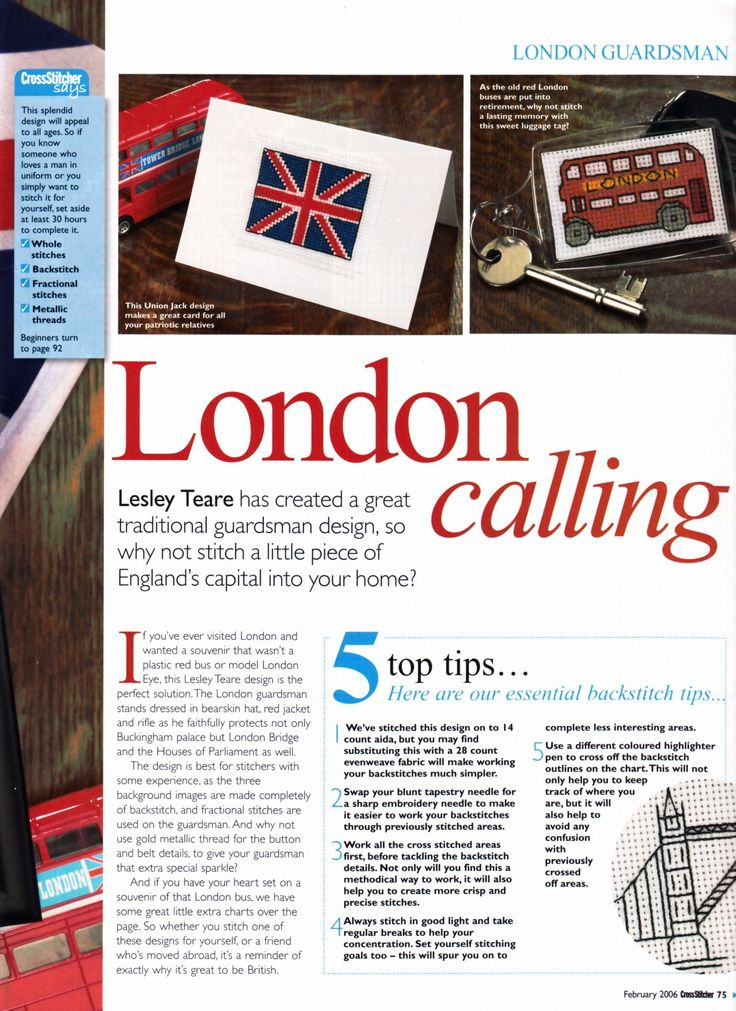 London Calling (Leslie Teare) From Cross Stitcher N°170 February 2006 2 of 4