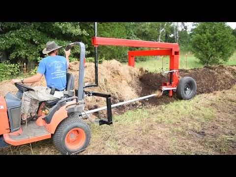 Compost turner - YouTube
