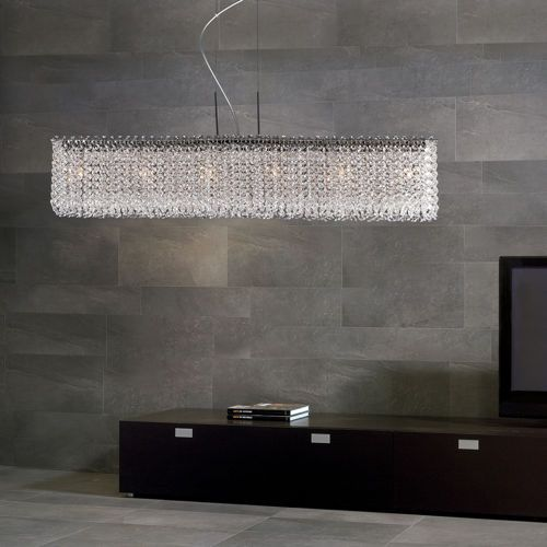 this stunning chandelier features a linear rectangular modern form with sparkling optic crystals that will transform your room instantly. Interior Design Ideas. Home Design Ideas