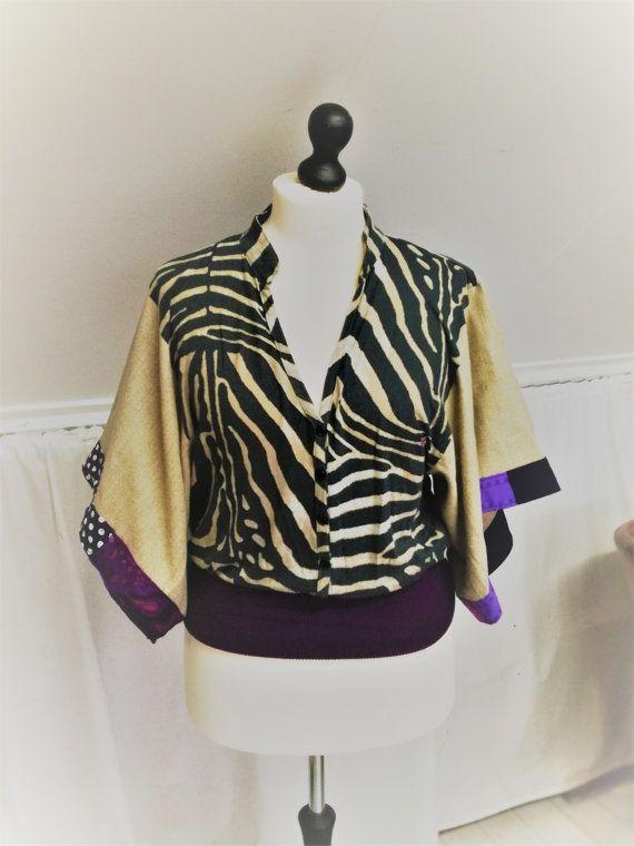 Boho Shirt, Boho Hippie shirt, Zebra shirt, Zebra Print, Purple Shirt, Purple, Zebra, Hippie Clothing, Kimono Sleeves,Boho Clothing, Upcycled clothing Mevrouw Hartman https://www.etsy.com/shop/MevrouwHartman  http://www.mevrouwhartman.nl/