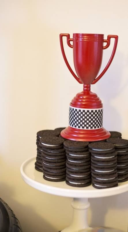 Boys Rad Race Car Themed Birthday Party Cookie Food Ideas