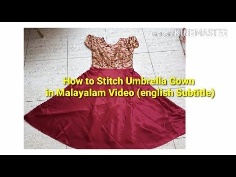 Umbrella churidar top cutting   stitching in Malayalam (Part-1) english  subtitle - YouTube 0e054187c