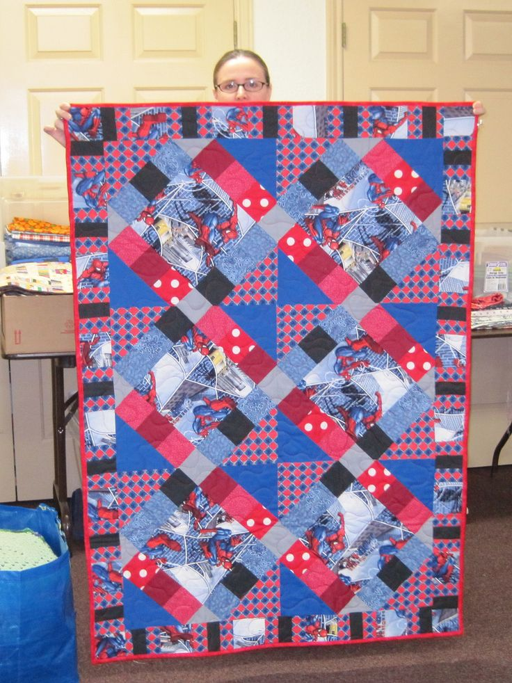 Spiderman Quilt Made And Donated By Marissa Superhero