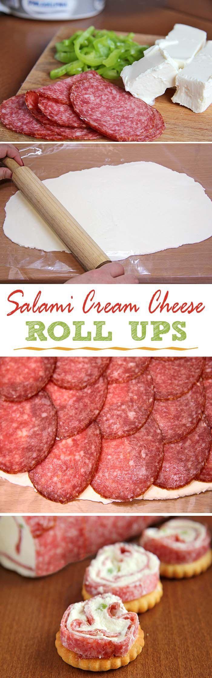 Salami & Cream Cheese Roll-Ups Five Little Chefs