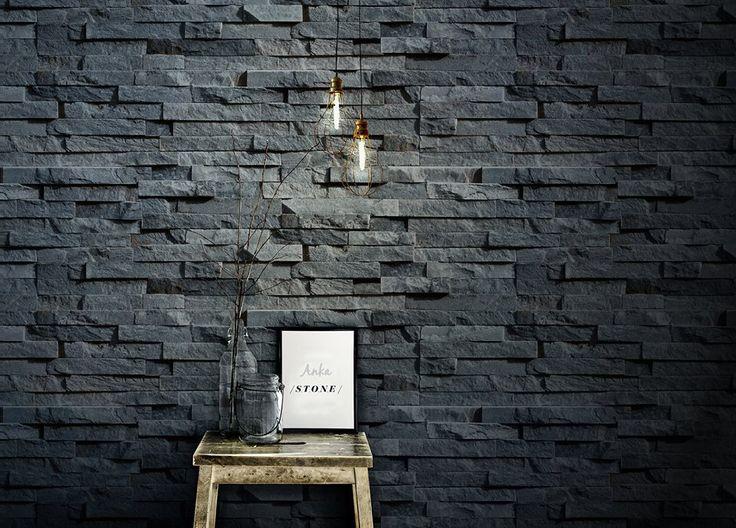 Stone Slate Wall Charcoal - Anka 1603SW1