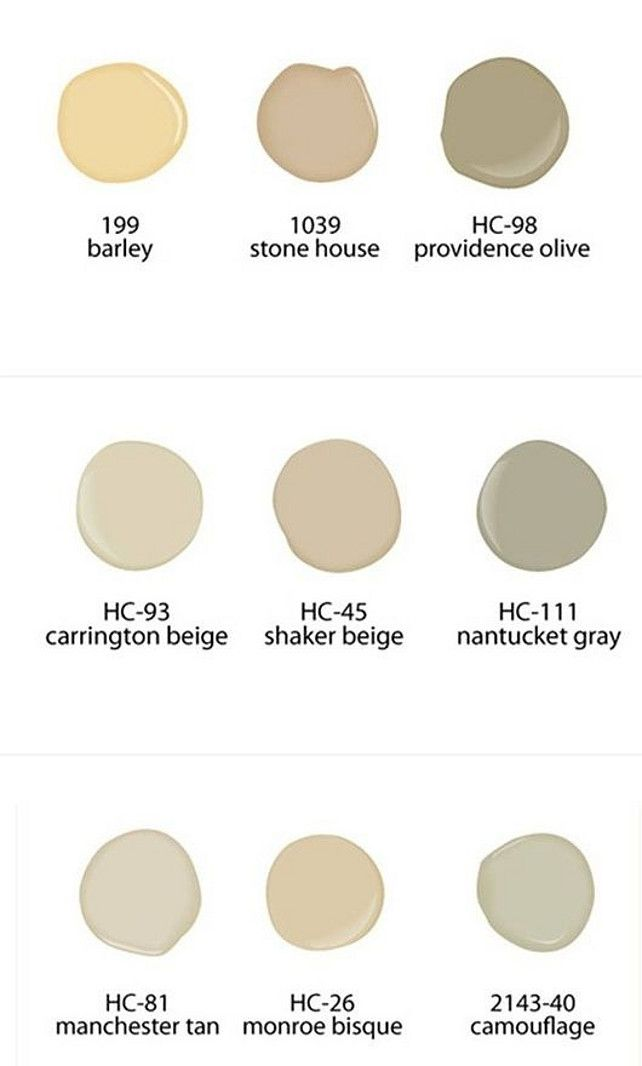 Neutral Benjamin Moore Paint Colors