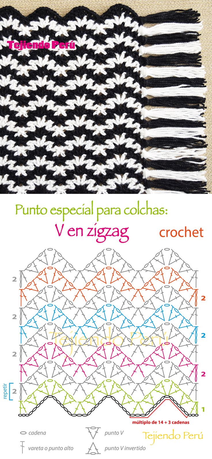 #Crochet: punto especial para tejer una #colcha manta o #cobija! En el video tutorial están las indicaciones para tejer todos los tamaños :)