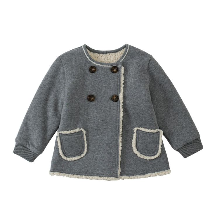 50% off everything at Happyology | Fleece-Lined Jersey Coat
