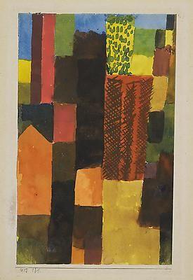Paul Klee, landscape.