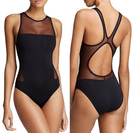 Arrowhunt Damen Schwarz Einteilige Badeanzug Bikini Set