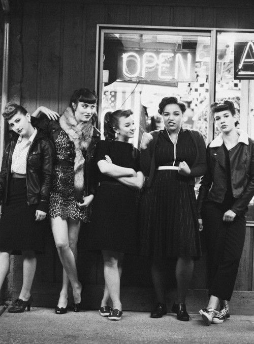U.K. Teddy girls. the subculture started in London in the 1950s, and rapidly spread across the UK, soon becoming strongly associated with American rock and roll. Originally known as Cosh Boys, the name Teddy Boy was coined when a 1953 Daily Express newspaper headline shortened Edward to Teddy