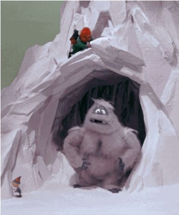 The Christmas yeti, AKA The Abominable Snowman from Rudolph the Red Nosed Reindeer. ~ETS