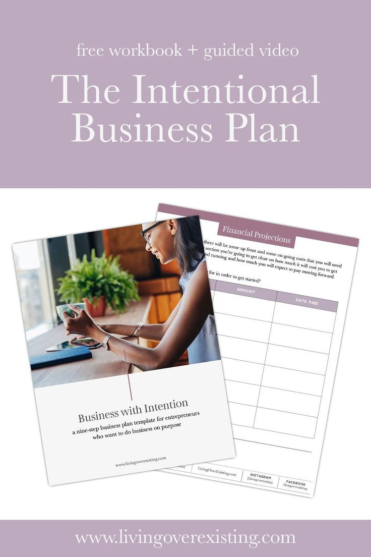 A Simple 9 Step Business Plan Template and guided video in