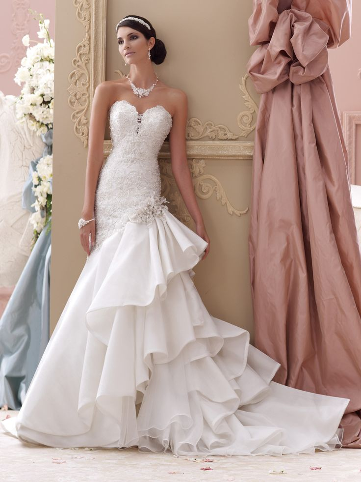 17 best ideas about ruffle wedding dresses on pinterest for No back wedding dress
