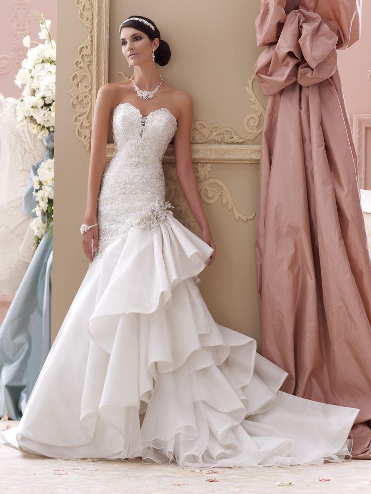 17 best ideas about ruffle wedding dresses on pinterest for No back wedding dress