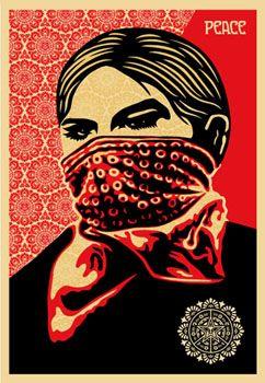 zapatista women by OBEY
