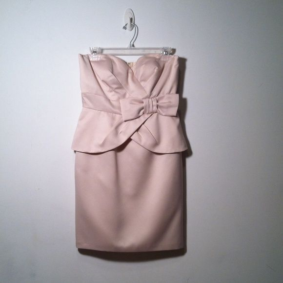 Donna Ricco strapless dress🎀sold locally🎀 Elegant. Excellent condition. Cream color. 100% polyester, fully lined with 100% polyester as well. Donna Ricco Dresses Strapless