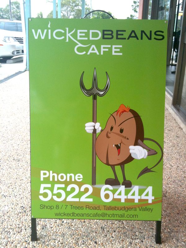 Wicked Beans Cafe #A-Board #Creationsgroup