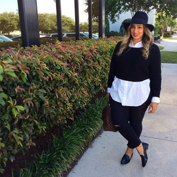 Rochelle looks fresh off the runway. Her put-together look proves that layering and minimalism can coexist.