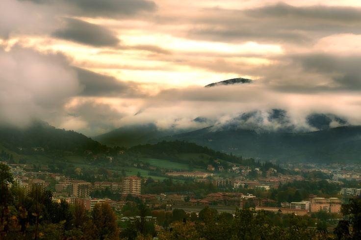 Bergamo panorama - Taken in a morning in Bergamo. It was a very cloudy day.
